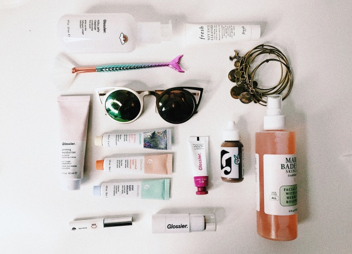 makeup look withGlossier.